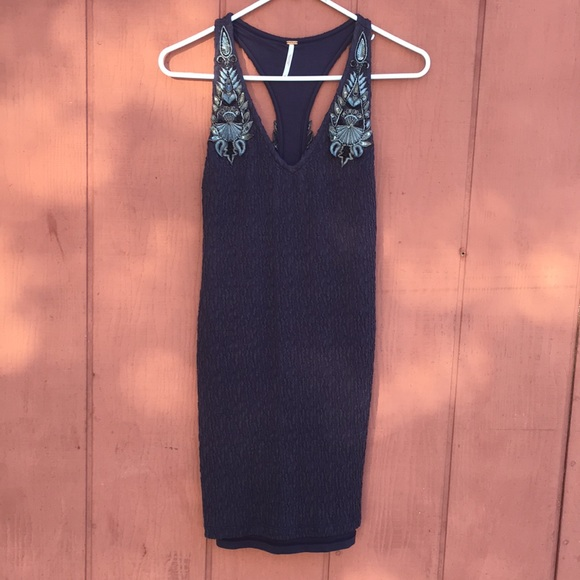Free People Dresses & Skirts - Free people embellished form fitted dress